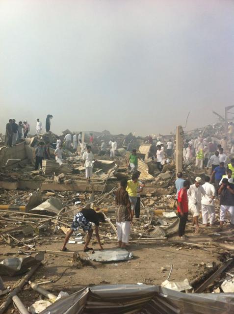 صور انفجار الرياض، تفجر سيارة الغاز 4294.imgcache.png